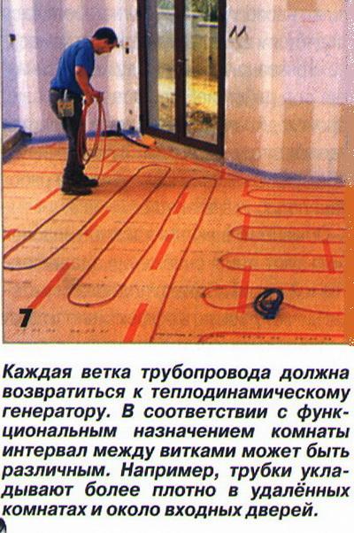Каждая ветка трубопровода должна возвратиться к теплодинамическому генератору.