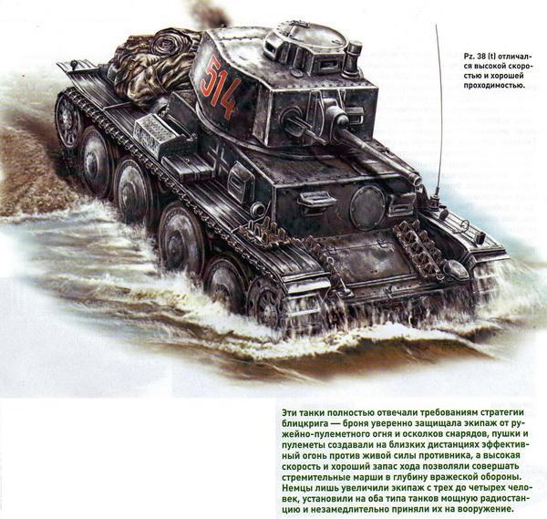 Немецкие легкие танки Pz. 35 и Pz. 38